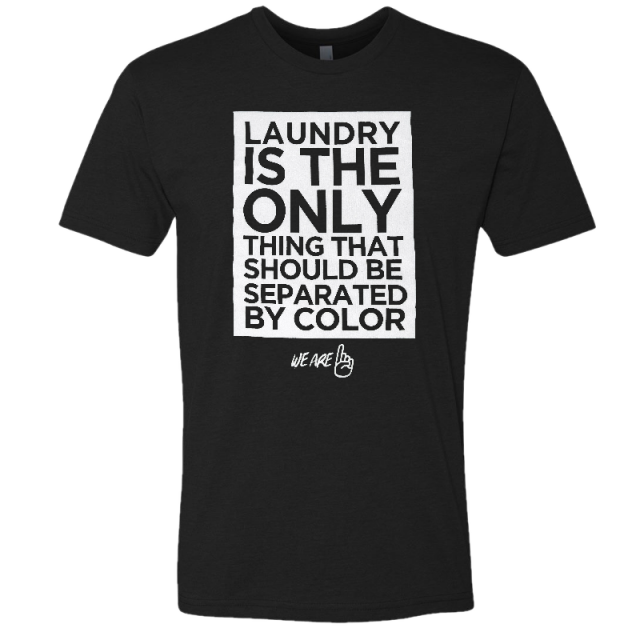We Are One Adult Black Laundry Tee
