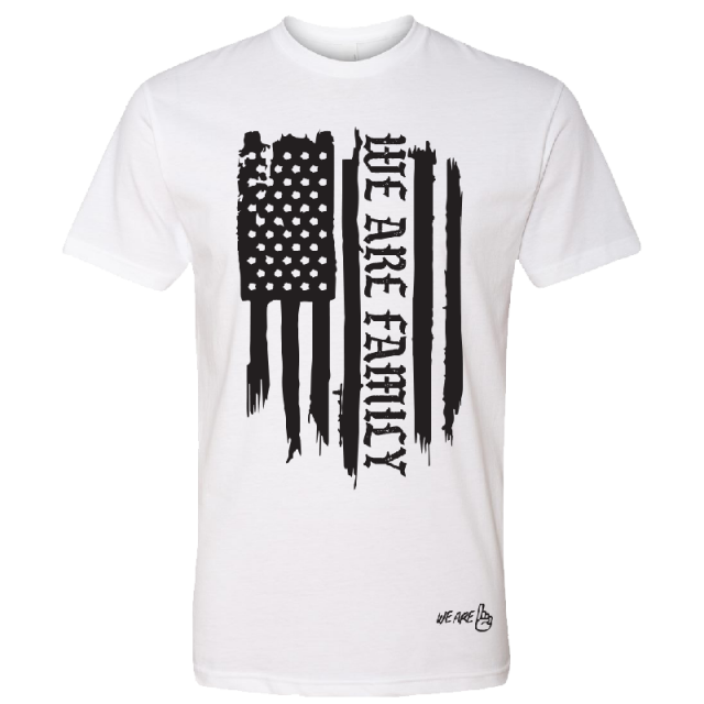 We Are One Adult We Are Family Flag Tee