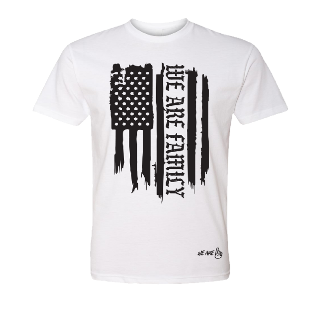 We Are One YOUTH We Are Family Flag Tee
